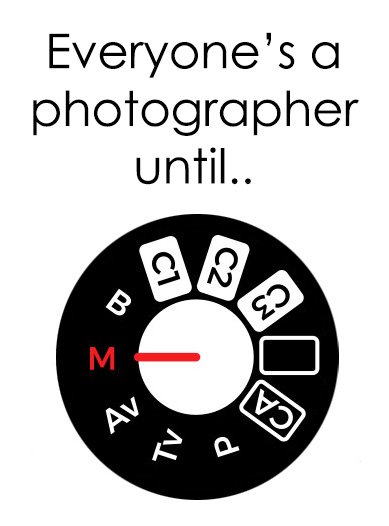 everyone is a photographer until manual