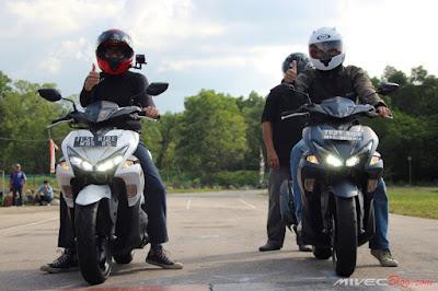 Test Ride Yamaha Aerox 155 di Marina Batam