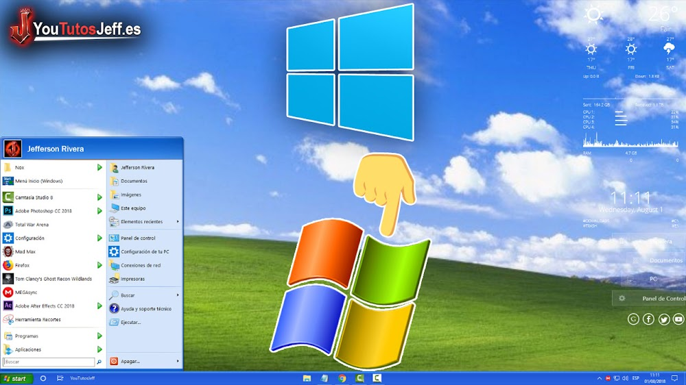 Transformar Windows 10 en Windows XP - Personalizar Windows 10
