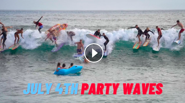 Surfing PARTY Waves in San Diego July 4th 2021