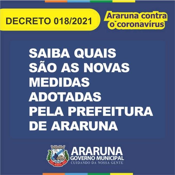 Prefeitura de Araruna publica novo Decreto com medidas temporárias para enfrentamento da pandemia e festividades juninas