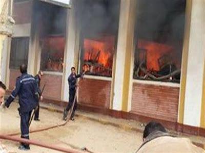 حريق بمدرسة ابتدائية بمنطقة الكرنك بالأقصر