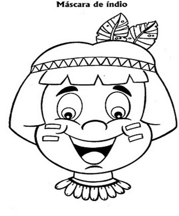 Dia Do Indio Atividades Desenhos Mascaras 5 7 Portal Escola