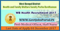 District Health & Family Welfare Samiti Recruitment 2017– 29 Medical Officer, Staff Nurse