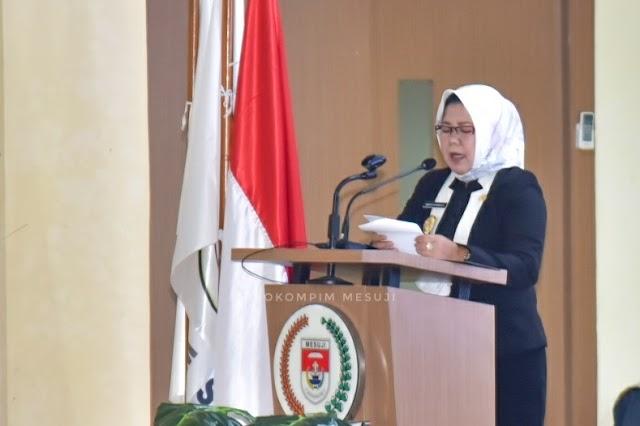 Pada Rapat Paripurna DPRD, Wakil Bupati Mesuji Sampaikan LKPJ Bupati Mesuji Tahun Anggaran 2020
