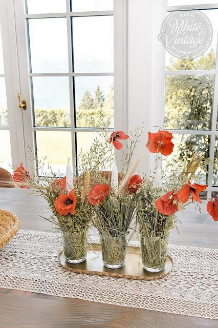 DIY-Naturdeko aus Gräsern und Blumen