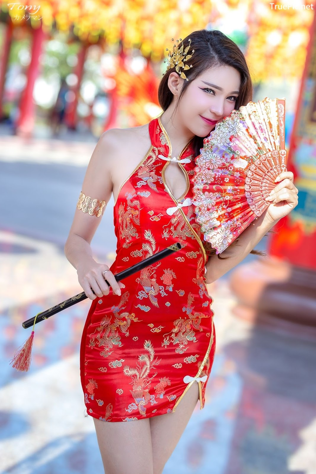 Image-Thailand-Hot-Model-Janet-Kanokwan-Saesim-Sexy-Chinese-Girl-Red-Dress-Traditional-TruePic.net- Picture-9