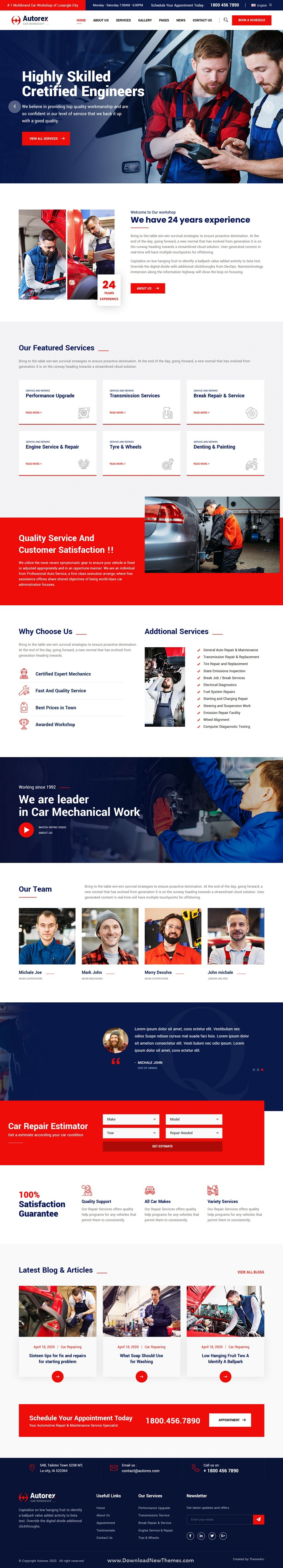 Car Service and Workshop HTML Template