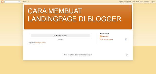 Tampilan blog sederhana