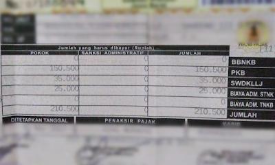 cara hitung denda telat bayar pajak motor mobil