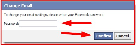 how to change your email on facebook account