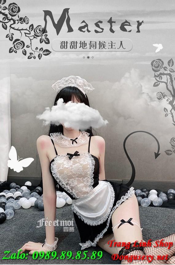 váy ngủ cosplay hầu gái gợi tình 5
