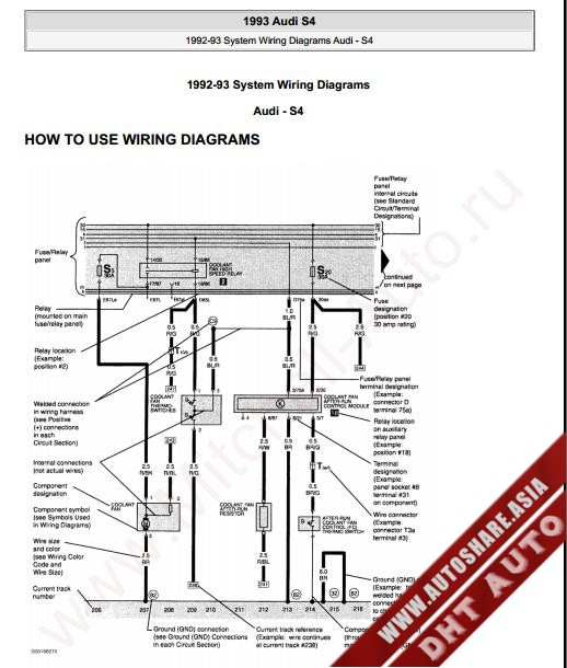 AUDI S4 1993 WIRING DIAGRAM  Heavy Equipment Workshop Manuals