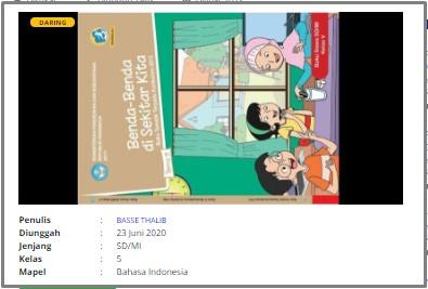 Download Rpp Daring Bahasa Indonesia Kelas 5 Sd Situs Guru