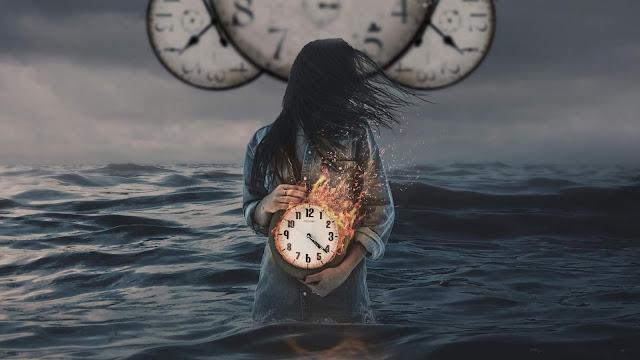 Relógios, Tempo, Oceano, Arte Digital