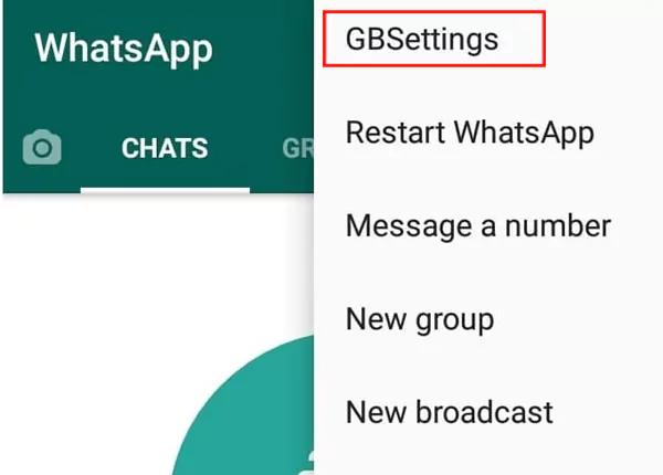 اعدادات gbwhatsapp