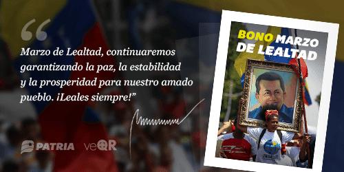 ATENTOS: YA EMPEZÓ LA ENTREGA DEL BONO MARZO DE LEALTAD A TRAVÉS DEL CARNET DE LA PATRIA (+MONTO)