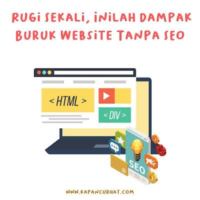 website tanpa seo