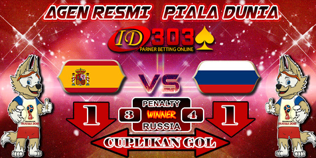 CUPLIKAN GOL SPAIN 1 - 1 RUSSIA