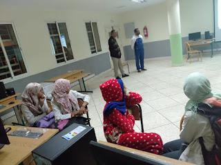 الثانوية الاعدادية سيدي بنمحمدون:اعطاء انطلاقة دروس في الاعلاميات لفائدة تلميذات وتلاميذ القسم الداخلي