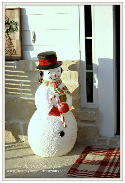 Farmhouse Christmas Porch-Blowmold-Snowman-From My Front Porch To Yours