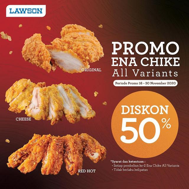#Lawson - #Promo Diskon 50% ENA CHICKE All Variant (s.d 30 Nov 2020)