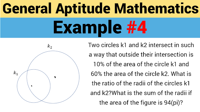 Two circles $k_1$ and $k_2$ intersect in such a way that outside their intersection is 10% of the area of the circle $k_1$ and 60% the area of the circle $k_2$. What is the ratio of the radii of the circles $k_1$ and $k_2$?What is the sum of the radii if the area of the figure is $94\pi$?