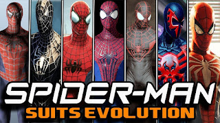 gambar spiderman suits evolution
