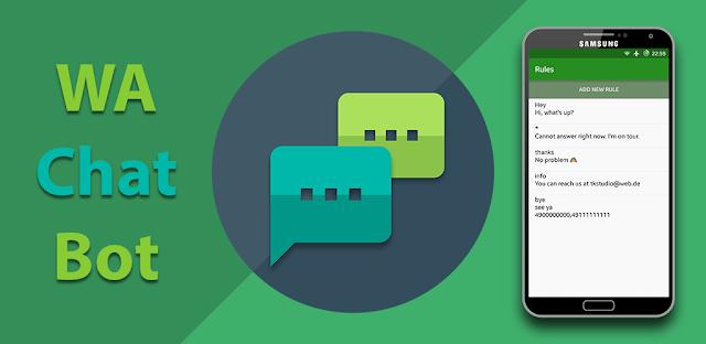 تطبيق للرد التلقائي على رسائل الواتساب