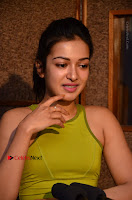 Actress Catherine Tresa Pos during Self Dubbing for Gautham Nanda Movie  0072.JPG