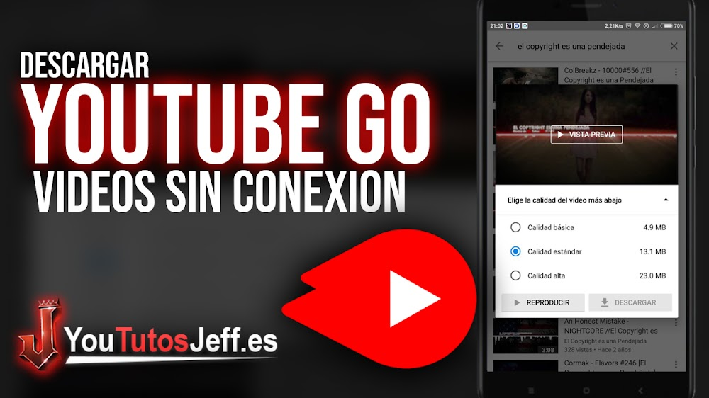 Como Descargar Youtube Go - Ver Vídeos sin Conexión
