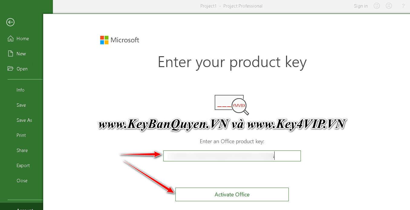 Hướng dẫn cài đặt Key bản quyền Microsoft Project 2021 Professional và Standard.