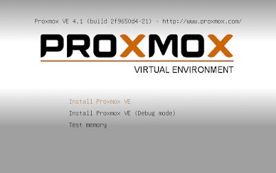 Lalu pilih Install Proxmox VE