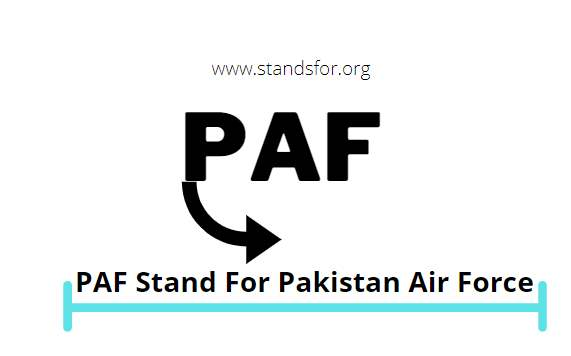 PAF- PDF Stand For Pakistan Air Force