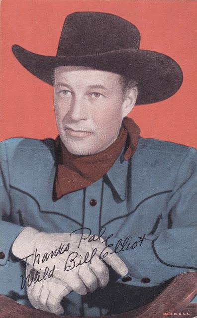 Bill Elliot, 1950s - postcard
