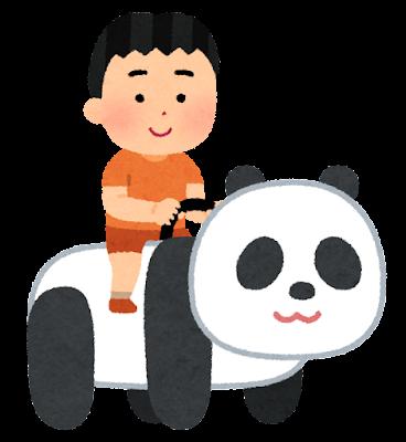 動物の乗り物のイラスト(男の子)
