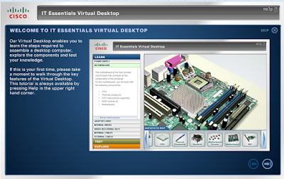 Download Aplikasi Simulasi atau Virtual Merakit Komputer IT Essentials Virtual Desktop