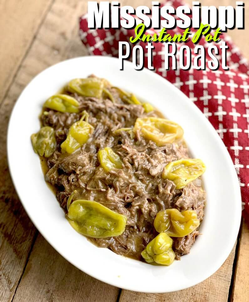 This Instant Pot Mississippi Pot Roast Recipe is low carb and keto-friendly. If you are looking for a fork-tender roast that is full of flavor and almost cooks itself, this is the roast recipe for you! #beef #instantpot #keto #lowcarb #lchf #easy #recipe | bobbiskozykitchen.com