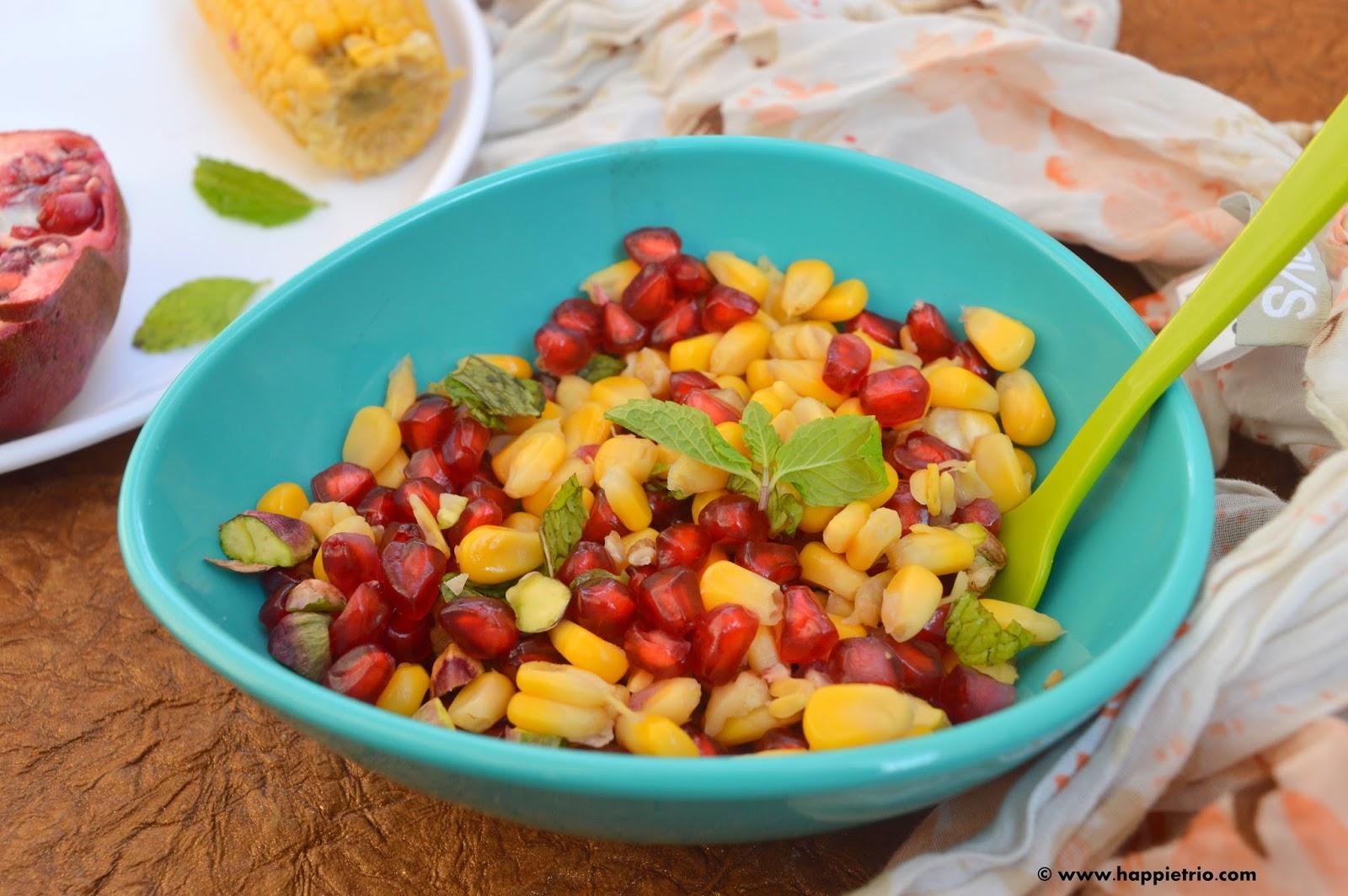 Nutty Pomegranate Sweet Corn Salad