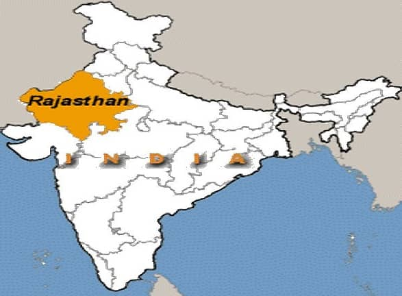 Location of Rajasthan