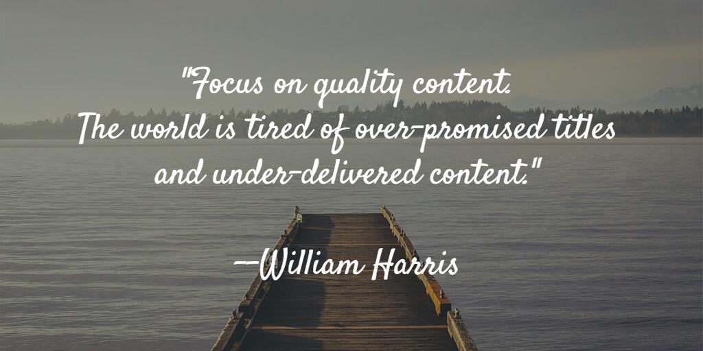 william harris blog quote