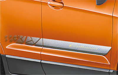 2016 Ford EcoSport Black Signature Edition side body graphics