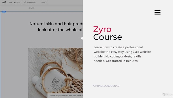 COURSE GRATIS : How to Create a Website the Easy Way, Using Zyro Website Builder