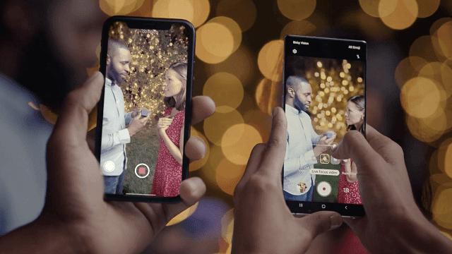 سامسونج تسخر من هواتف الأيفون الجديدة بميزة Live Focus