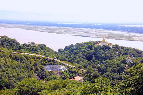 Colinas Sagaing Hill y el rio Ayeyarwady