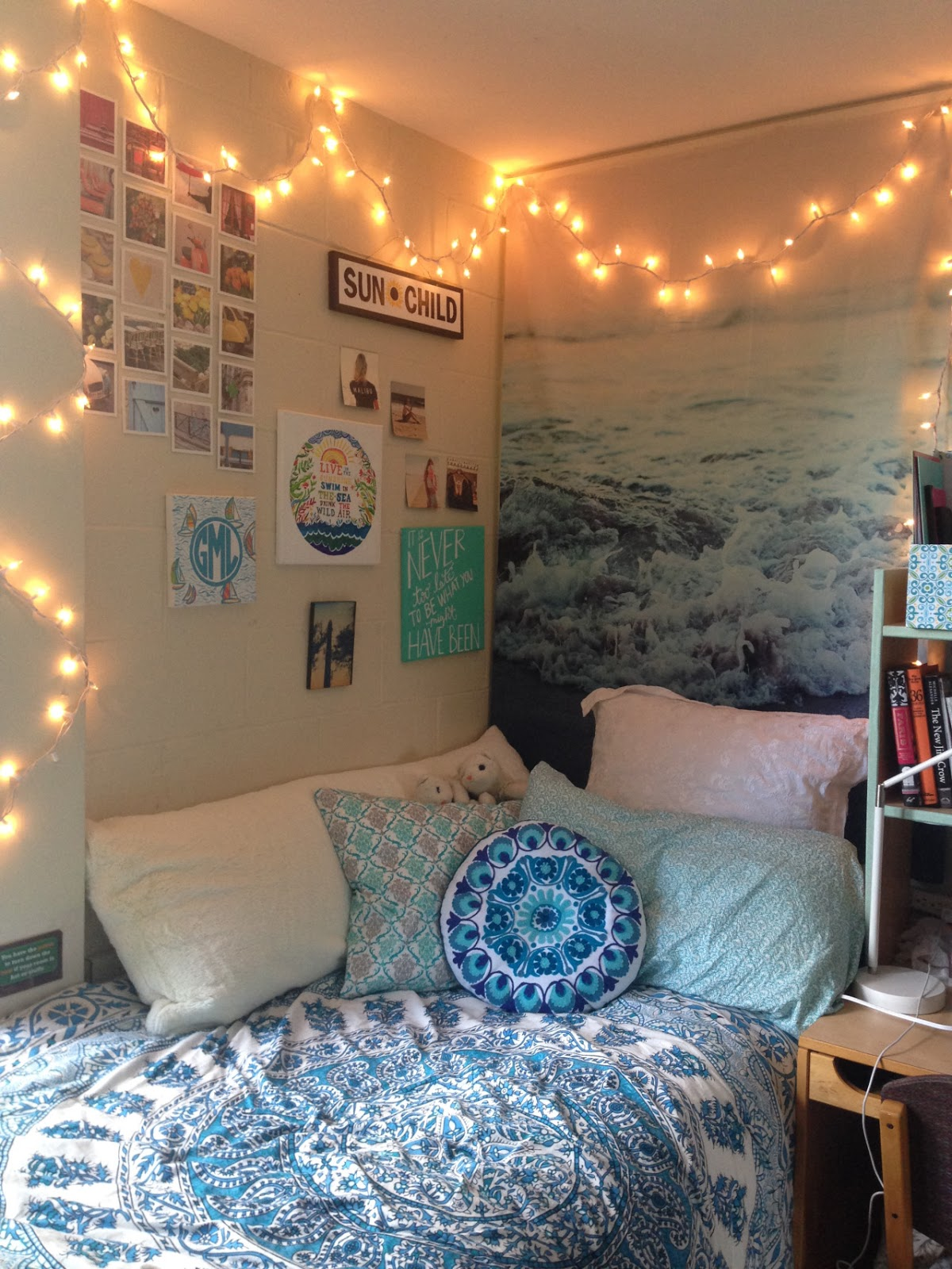 Cottage and vine dorm room inspiration - Cute things for girls room ...