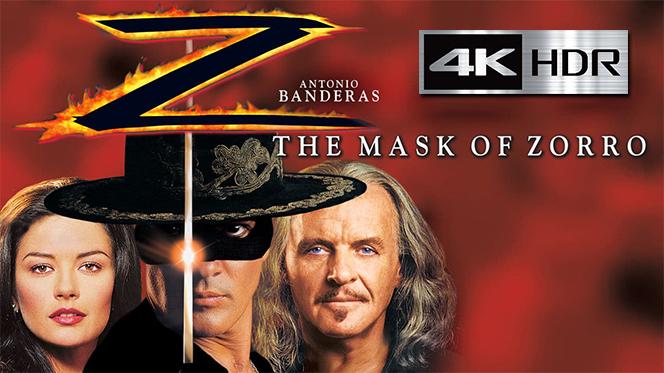 La máscara del Zorro (1998) 4K UHD [HDR] Latino-Castellano-Ingles
