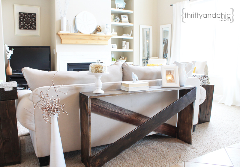 How To Make A Sofa Table Top Slipcovers For Leather Sofas Uk Thrifty And Chic Diy Projects Home Decor X Tutorial
