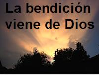 De Dios vienen nuestras bendiciones.