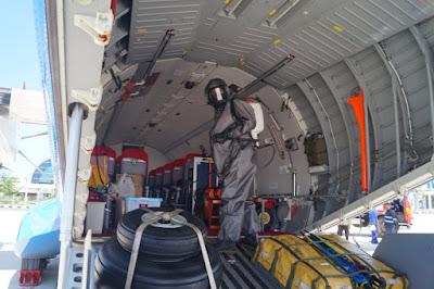 Pesawat Polri CN-295 Disemprot Disinfektan Oleh Gegana NTB